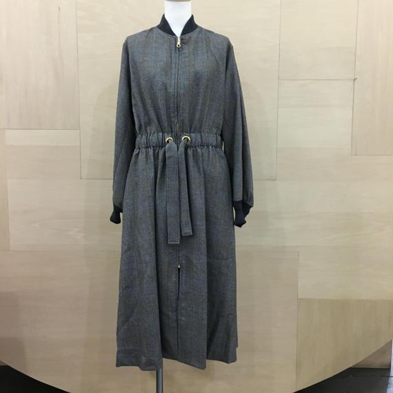 Graphpaper  / GL183 10003 / Glen Check Belted Long Coat (GLEN CHECK)