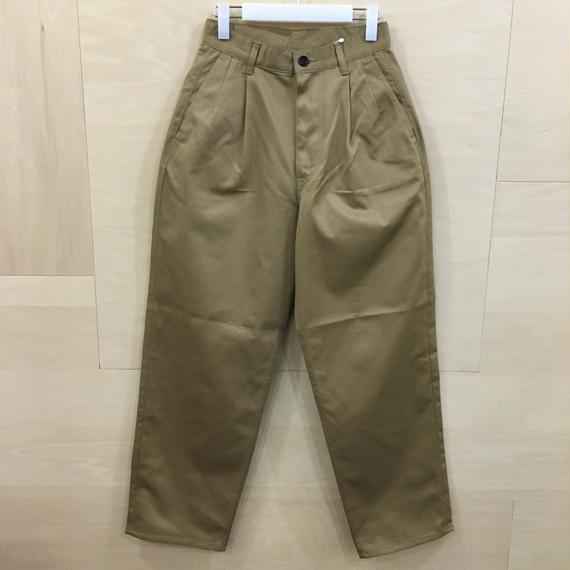 Graphpaper  / GU191 40048B / Chino Two Tuck Pants (BEIGE)