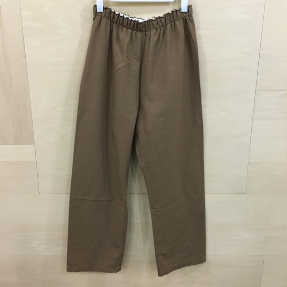 YAECA / 08951 パジャマパンツ  (BROWN)