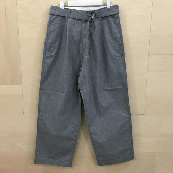 Graphpaper / GM191 40007 / Typewriter Belted Pants (L.GRAY)