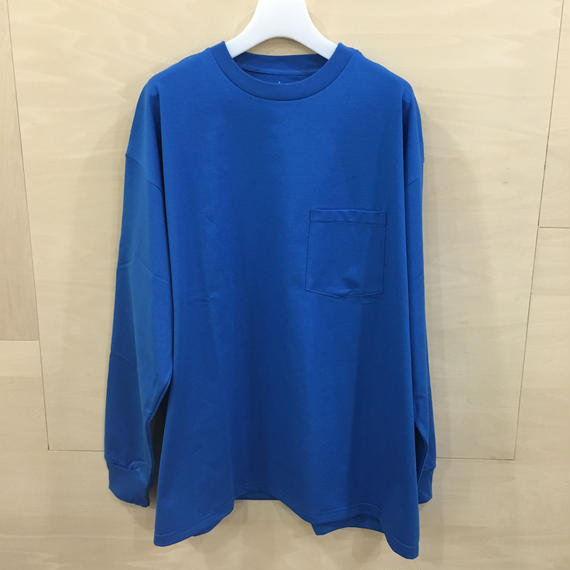 Graphpaper / GM191 70100B / Jersey Oversized L/S Pocket Tee (BLUE)