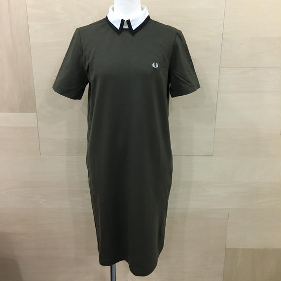PLEATED LONG POLO SHIRT (OLIVE)