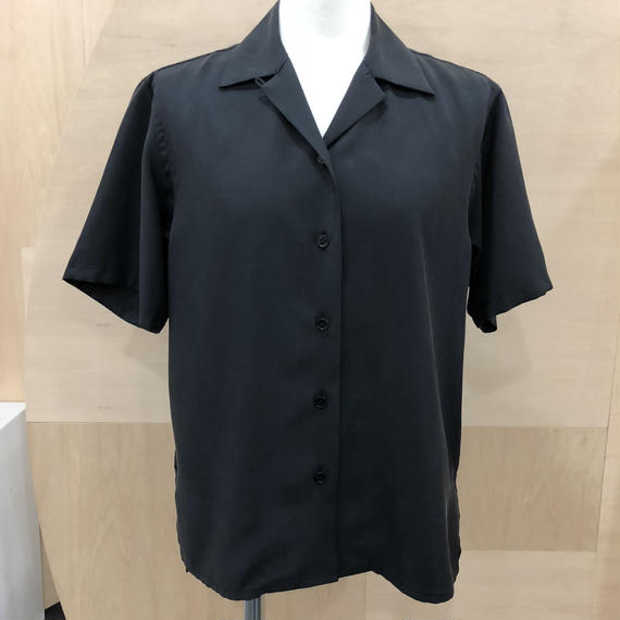 Graphpaper / GL181 50017 / Cupra Open collar Shirt (BLACK)