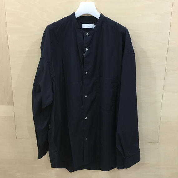 Graphpaper / GM191 50031 / Broad Oversized Band Collar Shirt (NAVY)