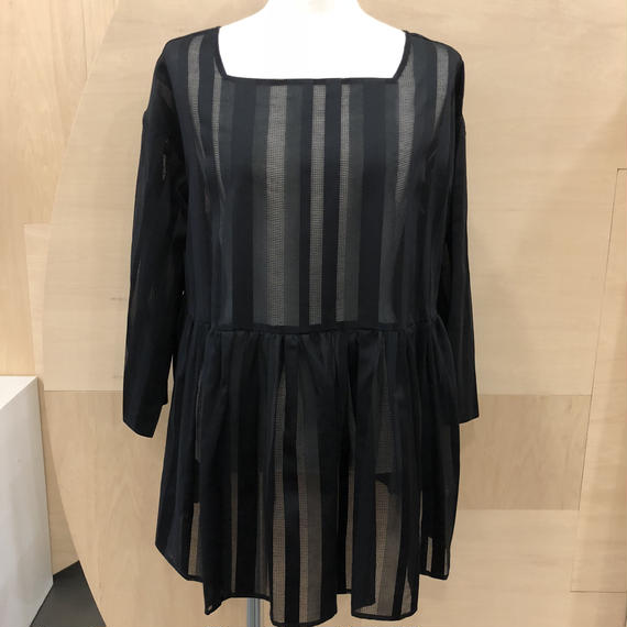 Graphpaper / Stripe Square-necked shirt / GL181-50007