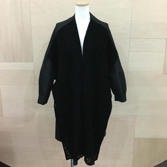 Bed Side Drama / bsd AW18 10 / カーテンワイドドレスシャツ (BLACK)