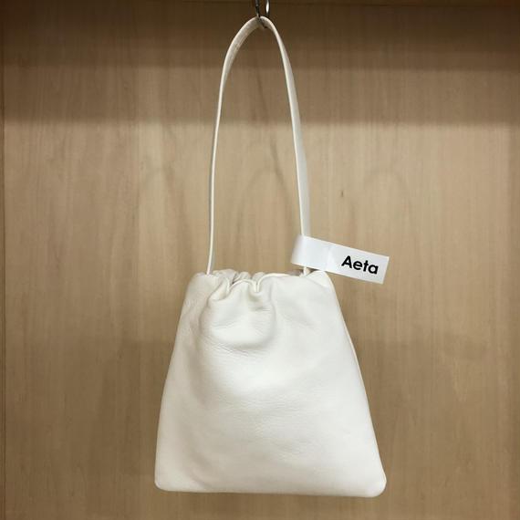 Aeta / DA01 / KINCHAKU BAG (S) (WHITE)