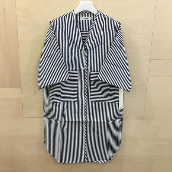 KLOKE / KLSP2914 / Fog Pocket Dress (MID STRIPE INK)