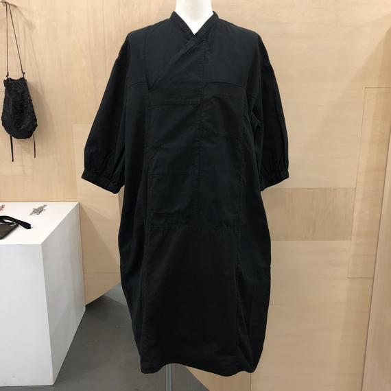 COSMIC WONDER / 07CW1715 / 有機栽培綿のポジャギフォークシャツ (BLACK)