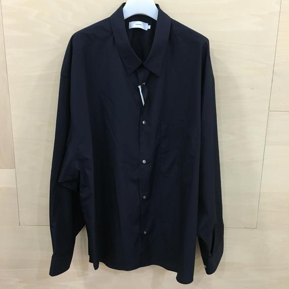 Graphpaper  / GM183 500131B / Regular Collar Big Sleeve Shirt (NAVY)