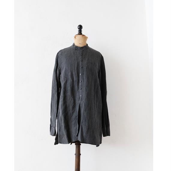 KLASICA クラシカ /cut off stand collar shirts unisex スタンドカラーシャツ/ kl-17004
