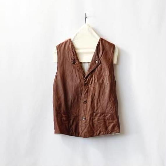 Aski Kataski アスキカタスキ / Lamb leather riding vest/ ak-16002
