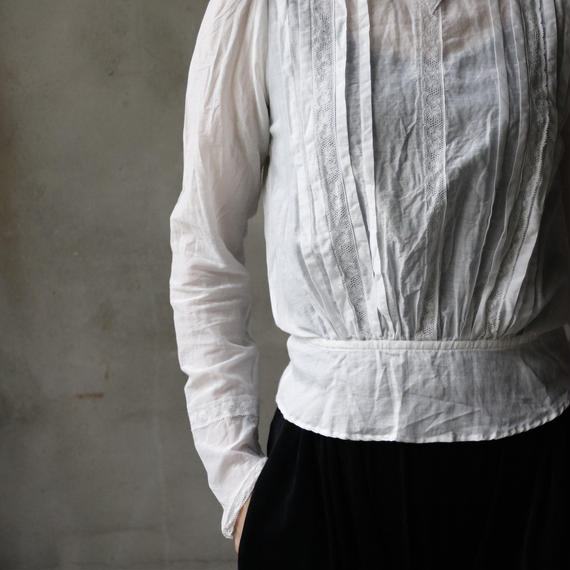 cavane キャヴァネ / 【受注】Farmer-lace blouse ファーマーレースブラウス  / ca-19009