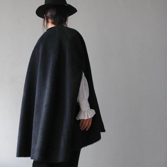 Tabrik タブリク /  Shaggy wool mant coatマントコート/ ta-17029