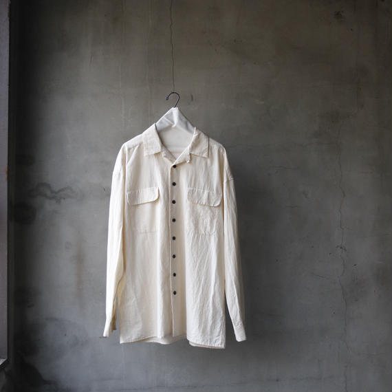 KLASICA クラシカ /wide style open collar sh. bawling mood back style unisex シャツ/  kl-18007