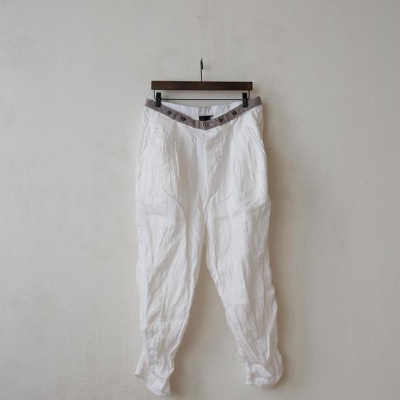 UMIT UNAL ウミットウネル / linen trousersリネントラウザー / um-17000
