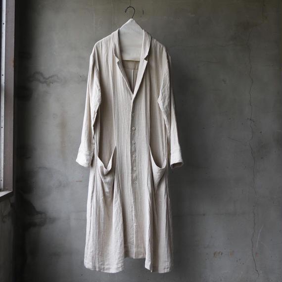 cavane キャヴァネ / Classic silk nep linen herringbone  Atelier Coatアトリエコート / ca-19019N