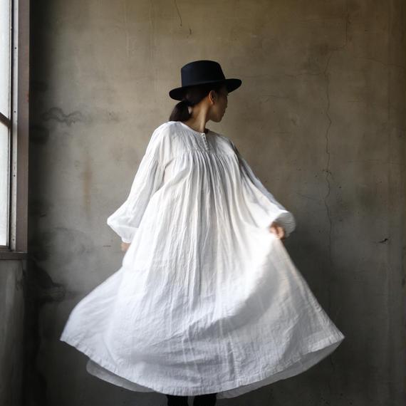 cavane キャヴァネ /  【受注】Front gather linen dressギャザードレス / ca-19014