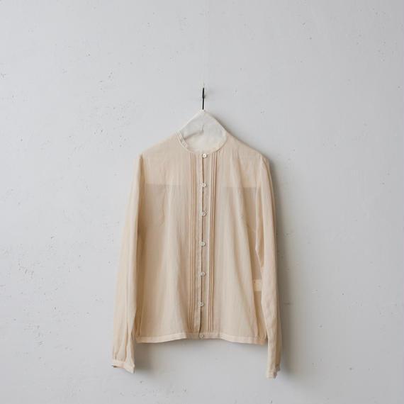 cavane キャヴァネ / Stand-collar blouse ピンタックブラウス/ ca-18012