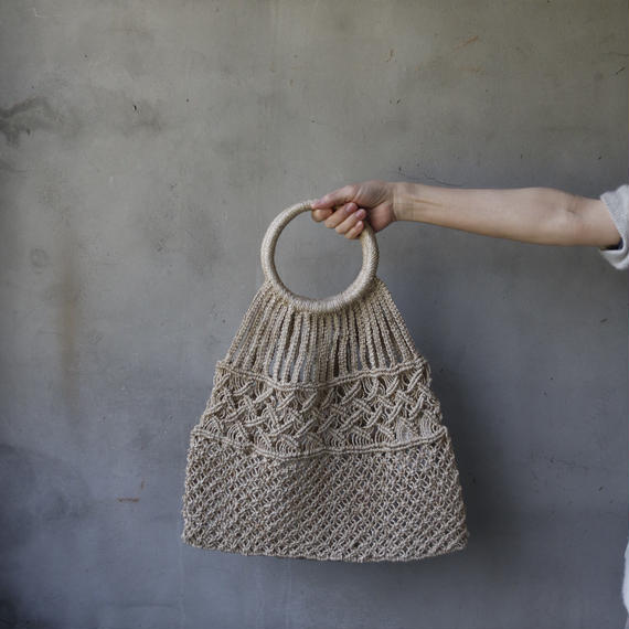 Euro select ユーロセレクト  / Jute macrame leaf bag with round handleバッグ/ eu-19005