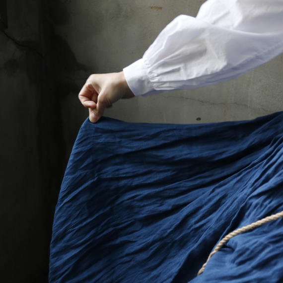 cavane キャヴァネ / 【予約】French linen-skirtリネンスカート /  ca-18034