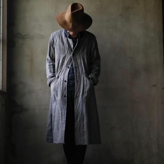 cavane キャヴァネ / ShetlandWool & Linen-coat unisexロングコート / ca-17070