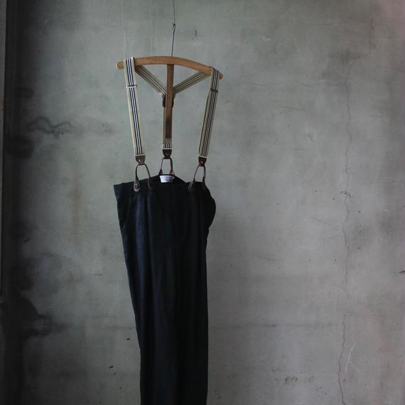 cavane キャヴァネ /  Suspenders linen pants サスペンダーパンツ / ca-18056
