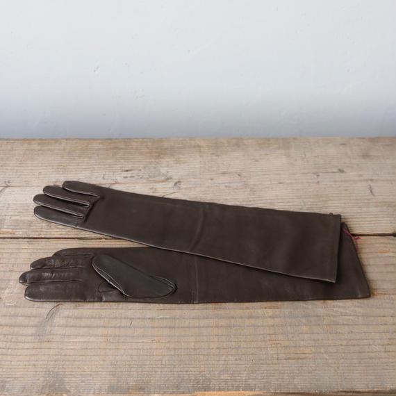AGNELLE アニュエル /  Leather long-glove革手袋 /ag-17003