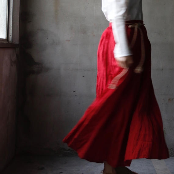 cavane キャヴァネ / French linen-skirtリネンスカート /  ca-18033