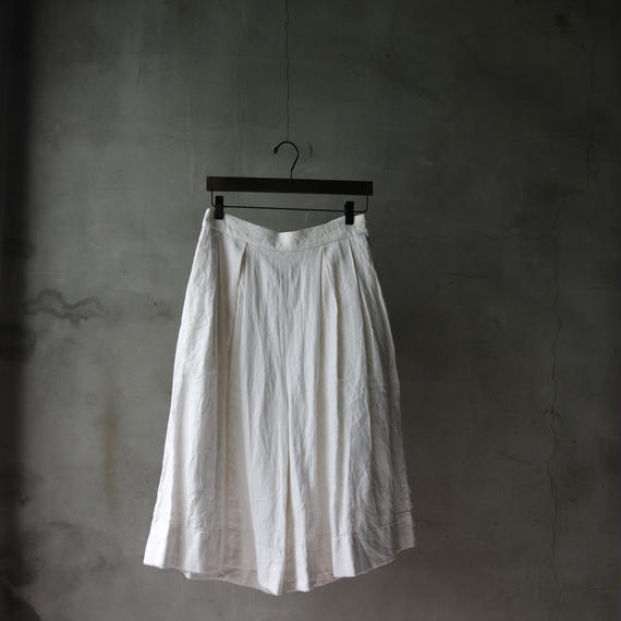 cavane キャヴァネ / wide french linen pants with antique buttonパンツ/  ca-18sale01