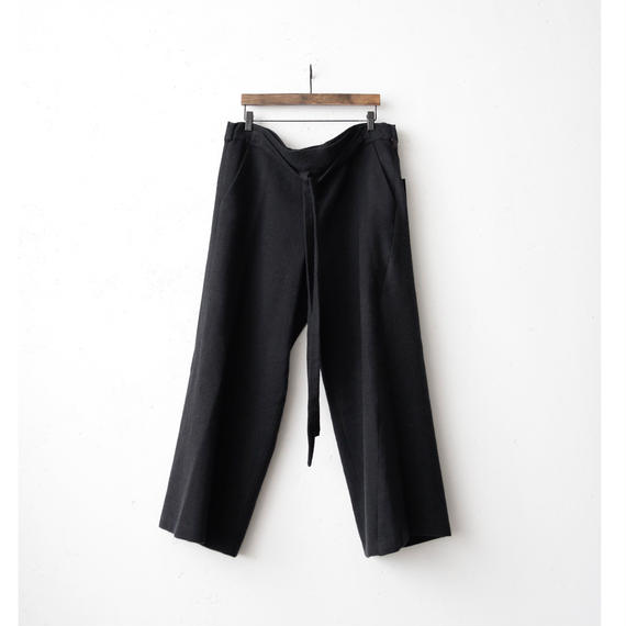 tous les deux ensemble Wトゥレドゥアンサンブル / wide pants with beltウエスト紐ベルト付ワイドパンツ/ to-17012