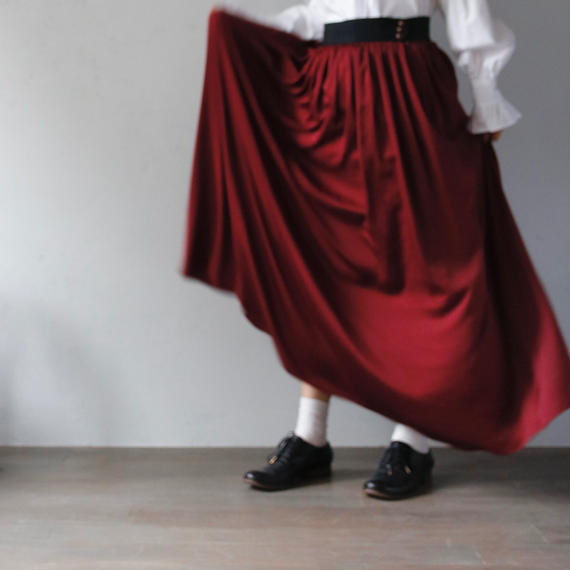 cavane キャヴァネ / long gather-skirtロングギャザースカート / ca-17055