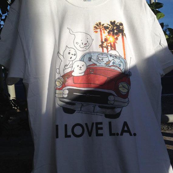 CD屋Tシャツ 『I LOVE L.A.』