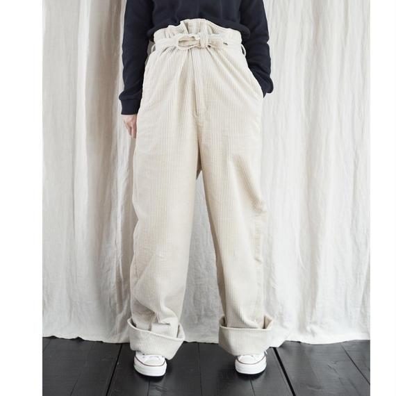 Corduroy High Waist Pants