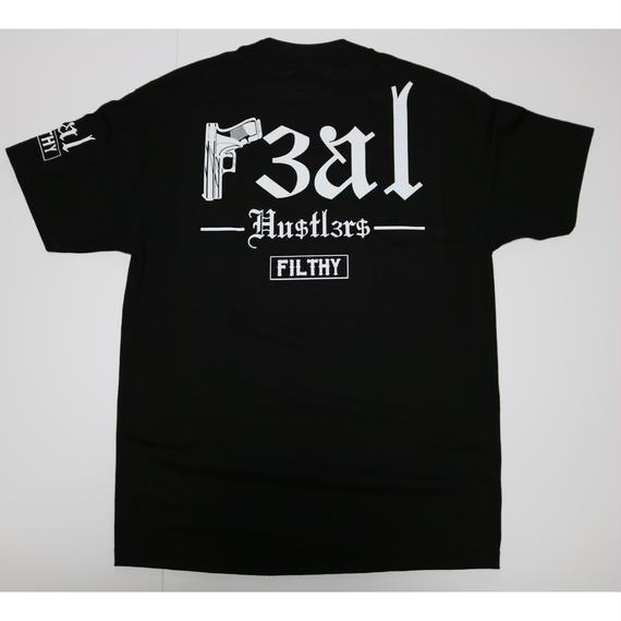 FILTHY HAWAII   Real Hustlers TSHIRTS ブラック/ホワイト