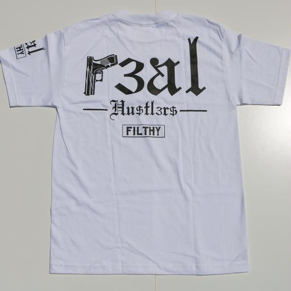 FILTHY HAWAII   Real Hustlers TSHIRTS ホワイト/ブラック