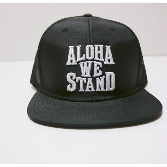 THE FILM   ALOHA WE STAND  スナップバック メッシュキャップ ブラック/ホワイト