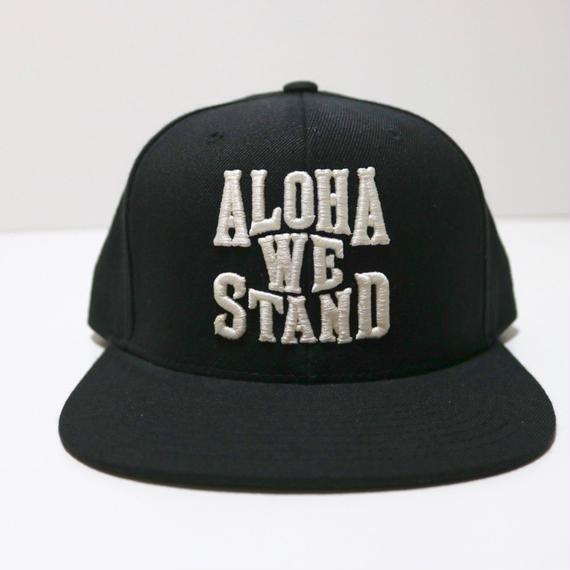 THE FILM   ALOHA WE STAND  スナップバックキャップ ブラック/ホワイト