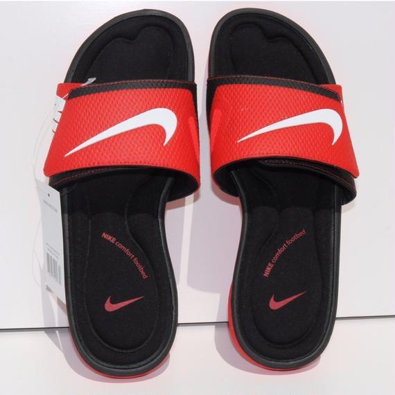 日本未発売!!NIKE comfort footbed サンダル  レッド/ブラック
