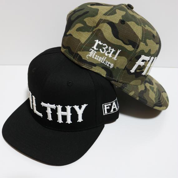 FILTHY HAWAII   Snap back Cap   ブラック/ホワイト