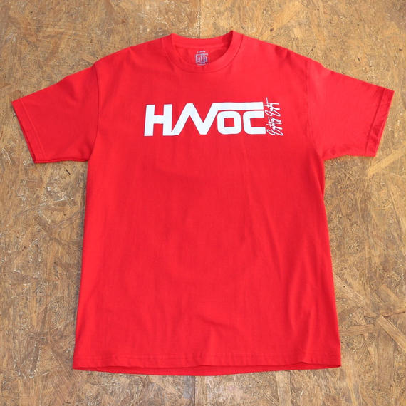 HAVOC HAWAII CLOTHING     HAVOC  Tshirts    Red/White