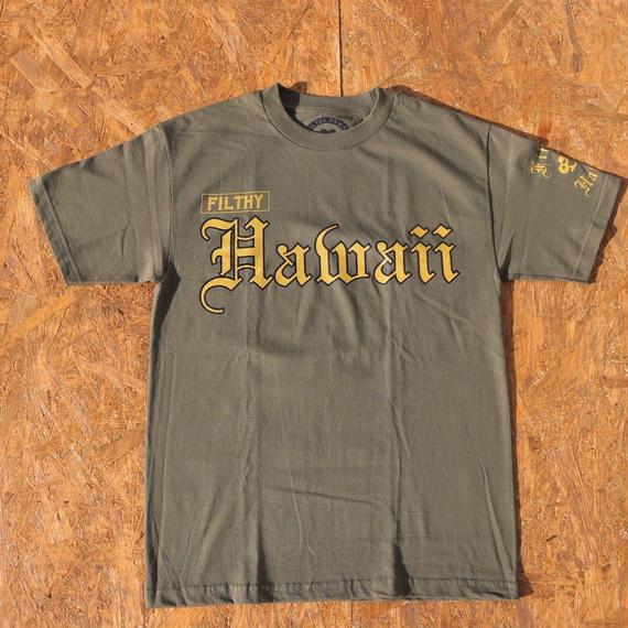 FILTHY HAWAII   Filthy Hawaii TSHIRTS カーキ/ブラック.ゴールド