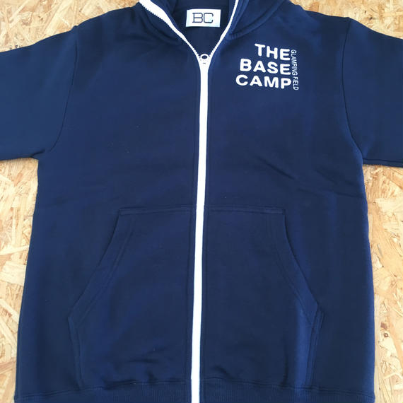 THE CHIKURA UMI BASECAMP  Original Embroidery ZipUp Hoodie /  Navy