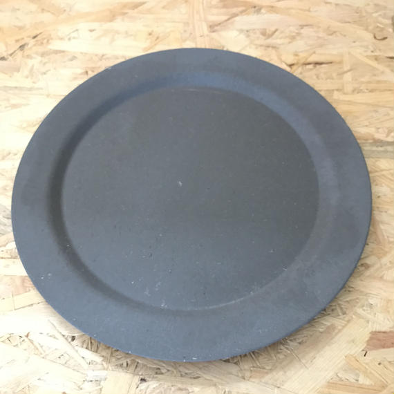 EcoSouLife / Large Dinner Plate  #Charcoal
