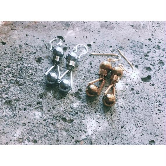 """""""PARTICLE"""" EARRINGS  -  GOLD / SILVER"""