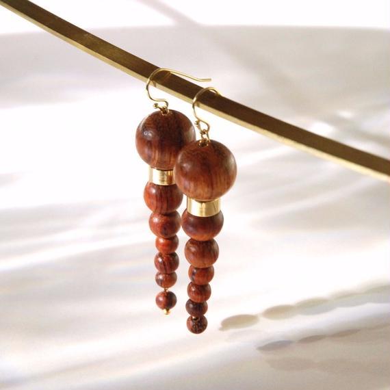 OLYMPIA earrings - BAYONG WOOD