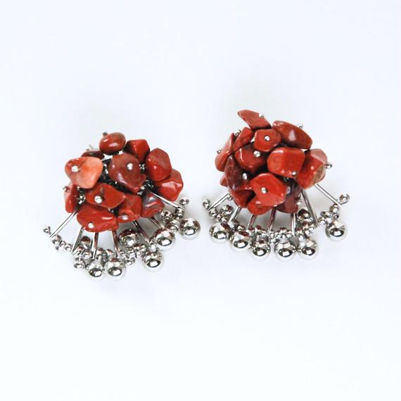 Aria Earrings -RED JASPER