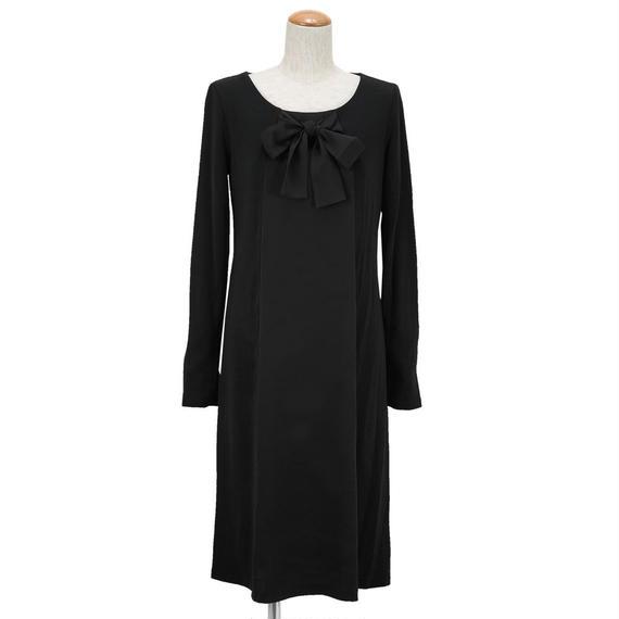 【SALE】コンフォート素材のブラックドレス