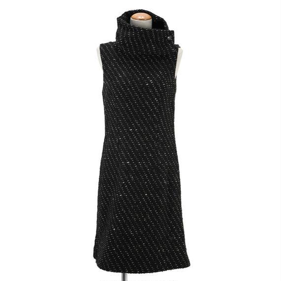【SALE】ファインジャガードノースリーブドレス