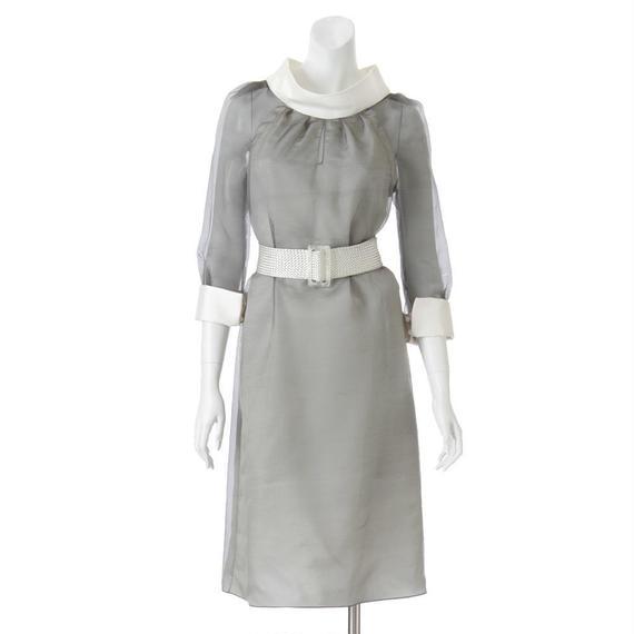 【SALE】モノトーンオーガンジー素材 3wayドレス